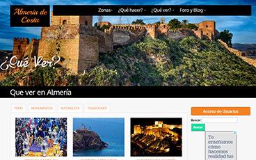 Dise o p ginas web y tiendas online en almer a granada y for Paginas web sobre turismo
