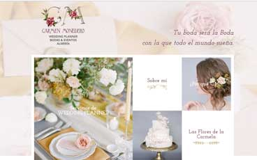 Página web CM Wedding Planner